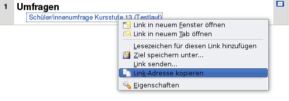 Evaluationssystem: Vereinfachung der Usability
